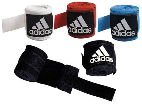 Adidas Boxing Hand Wraps 2.55m White