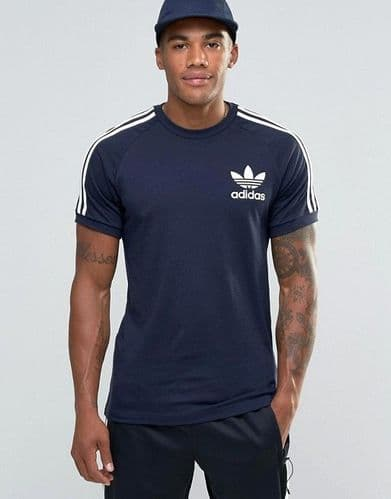 Adidas Originals California Mens Sports Casual Tee Shirt Tinley