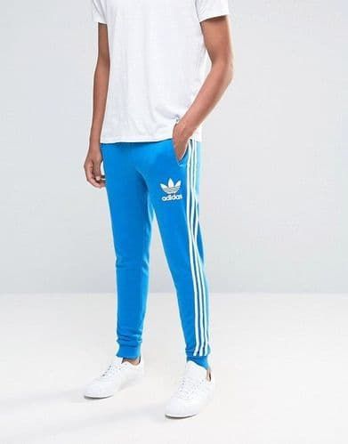 Adidas Originals California Trefoil Sweat Pant Training Jog Trouser Blue Bird