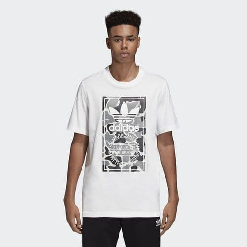 Adidas Originals Camouflage Tongue Label Tee Mens T-Shirt White