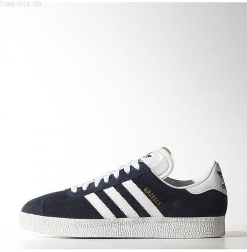 Adidas Originals Gazelle II Mens Sports Casual Trainer Shoes Navy / White