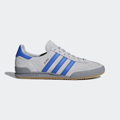 Adidas Originals Jeans Men's Sports Casual Trainer Shoes Grey Blue