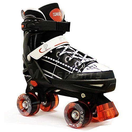 California Pro Kruz Children's Adjustable Kids Quad Roller Skates Black