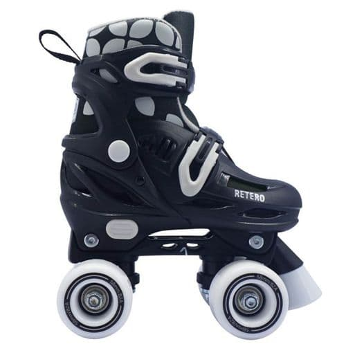 California Pro Retro Childrens Kids Junior Adjustable Quad Roller Skates Black