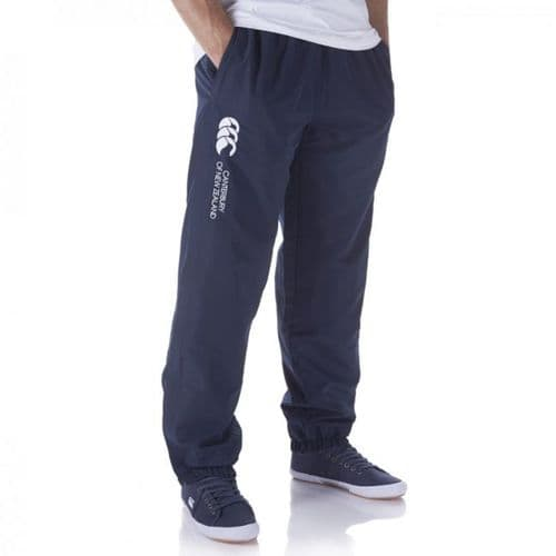Canterbury Cuffed Close'em Junior Kids Stadium Pant Trouser Bottom Navy