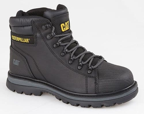 Caterpillar Foxfield Mens Outdoor Water Resistant Safety Boots Black