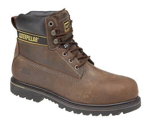 Caterpillar Holton SB Mens Outdoor Safety Boots Dark Brown