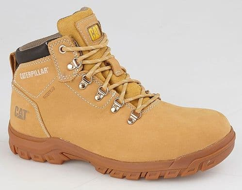 Caterpillar MAE Womens Outdoor Ladies Waterproof Safety Boots Honey