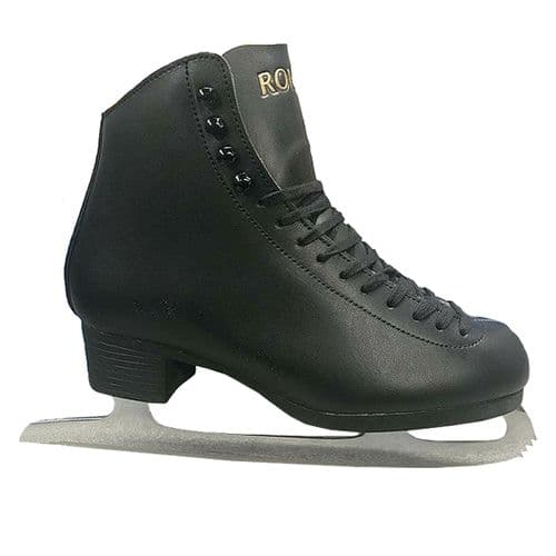 Concept Roma Girls Womens Leather Ice Figure Skates Black