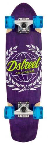 D Street Cruiser Atlas Skateboard Purple