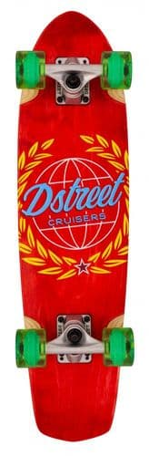 D Street Cruiser Atlas Skateboard Red