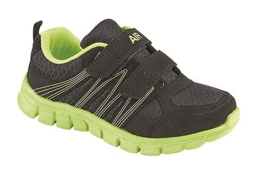 Dek Air Sprint Superlight Kids Boys Sports Casual Trainer Shoes Black Lime