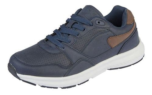 Dek Cosmos Superlight Lace Mens Sports Casual Trainer Shoes Navy Blue