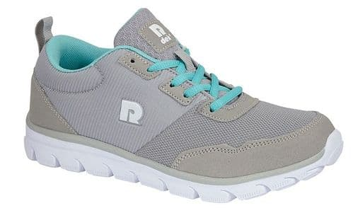 Dek Debbie Womens Sports Running Trainer Shoes Mid Grey