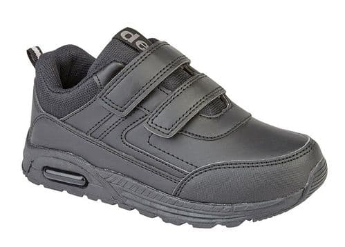 Dek Felix II Back to School Boys Touch Fasten Sports Casual Trainer Shoes Black