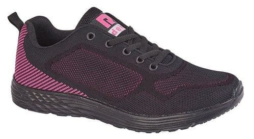 Dek Fox Womens Sports Running Trainer Shoes Black Pink