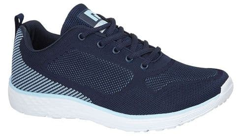 Dek Fox Womens Sports Running Trainer Shoes Navy