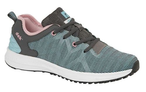 Dek Jenna Womens Sports Running Trainer Shoes Jade Grey