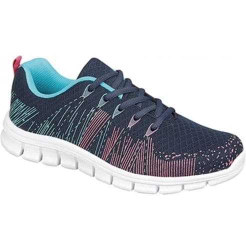 Dek Starlight Womens Sports Running Trainer Shoes Navy Aqua