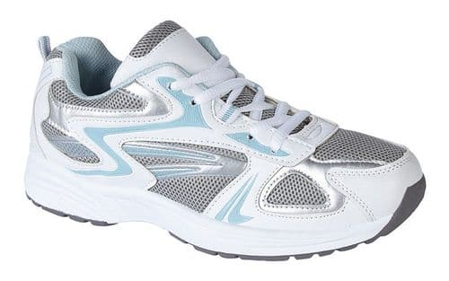 Dek Sunset Womens Sports Running Trainer Shoes White Blue