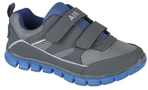 Dek Twin Reflex Superlight Kids Boys Sports Casual Trainer Shoes Grey Blue