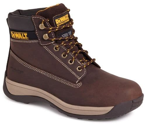 DeWalt Apprentice Mens Nubuck Leather Outdoor Hiker Safety Boots Brown