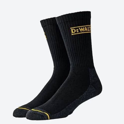 DEWALT Mens On Binding Crew Work Socks 3 Pair Pack