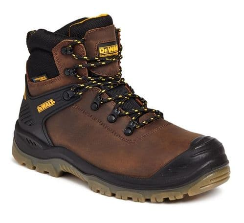 DeWalt Newark Mens Leather Outdoor Waterproof Safety Boots Brown