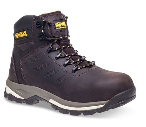 DeWalt Sharpsburg Mens Leather Outdoor Industrial Work Safety Boots Brown