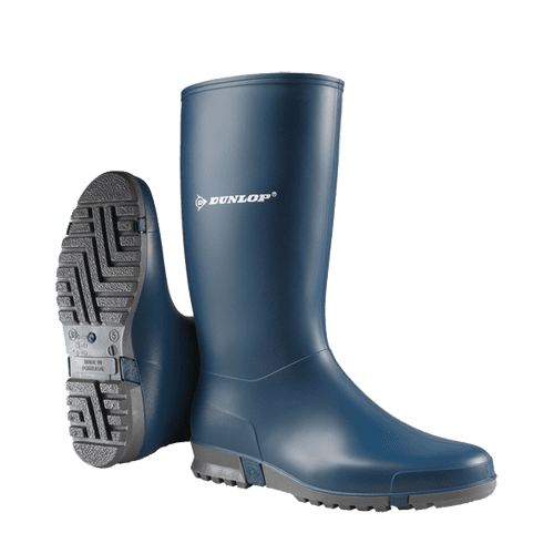 Dunlop Sport Junior& Senior Waterproof Outdoor Wellington Boots Navy