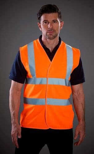 Grafters Hi Visibility Waistcoat Jacket Fluo Orange