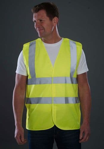 Grafters Hi Visibility Waistcoat Jacket Fluo Yellow