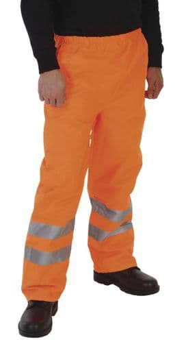 Grafters Hi Visibility Waterproof Over Trouser Pants Fluo Orange