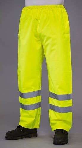 Grafters Hi Visibility Waterproof Over Trouser Pants Fluo Yellow