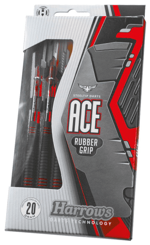 Harrows Ace Rubber Coated Brass Darts 24g