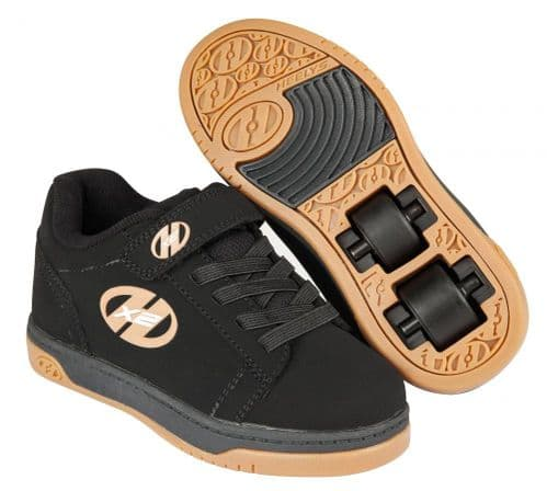 Heelys Dual Up Children's HX2 Boys Skating Shoes Black/Gum 770582