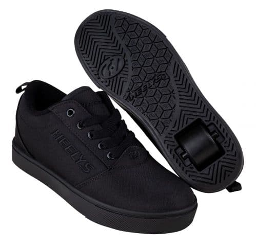 Heelys Pro 20 Wheels Skating Boys Shoes Triple Black HE100769