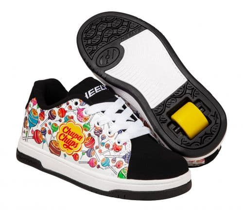 Heelys Split Chupa Chups Wheels Skating Boys Shoes White black Multi HES10355