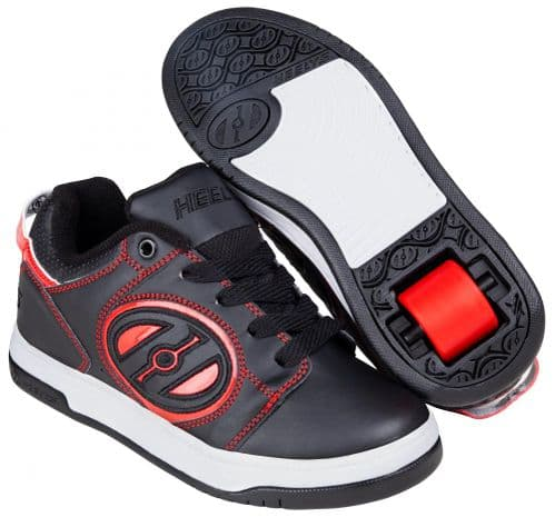 Heelys Voyager boys HX1 Wheel Skating Shoes Black Red HE100607