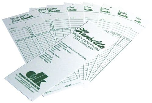 Henselite Bowls Score Cards (Pack of 100)