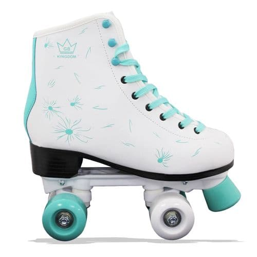Kingdom GB Venus V2 Quad Roller Skates White/Teal Green
