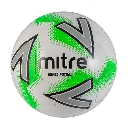 Mitre Impel Futsal Football 4 White/Green