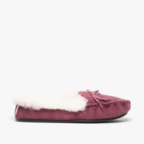 Mokkers Kirsty Girls Suede Moccasin Flur Slippers