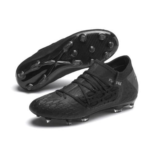 Official Puma Future 5.3 Netfit Junior Kids Football FG/AG Boots Black