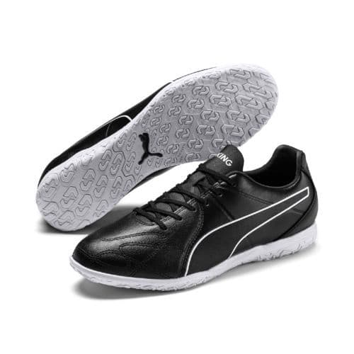 Official Puma King Hero Mens Football Indoor Training Boots Black/White