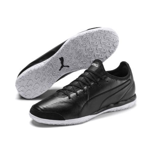 Official Puma King Pro Mens Football Indoor Training Boots Black/White