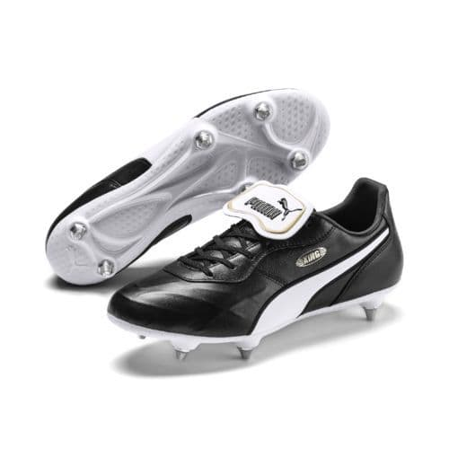 Official Puma King Top Mens Football SG Boots Black/White