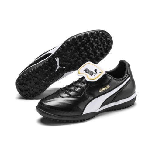 Official Puma King Top Mens Football Turf Training Boots Black/White