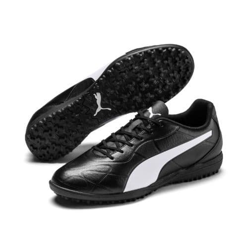 Official Puma Monarch Mens Football Turf Training Boots Black/White