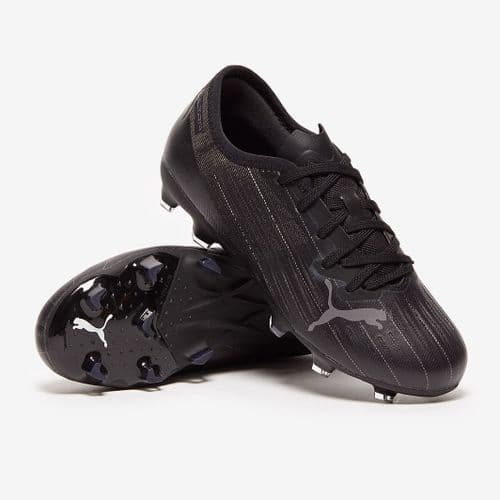 Official Puma Ultra 2.1 Junior Kids Football FG/AG Boots Black